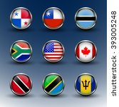 set round glass icons flags of...