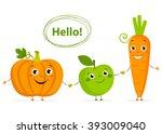 Funny Cartoon Fruits And...