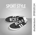 vector icon shoes for training. ... | Shutterstock .eps vector #393010114