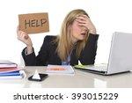young beautiful business woman... | Shutterstock . vector #393015229