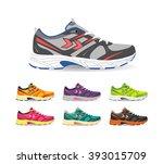 vector illustration of sport... | Shutterstock .eps vector #393015709