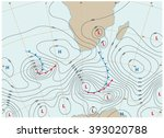 imaginary weather map showing... | Shutterstock .eps vector #393020788