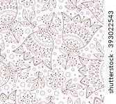 abstract vector seamless... | Shutterstock .eps vector #393022543