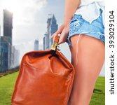 tourist woman adventure with...   Shutterstock . vector #393029104