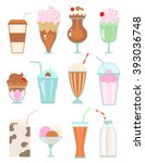 Collection Of Milkshakes With...