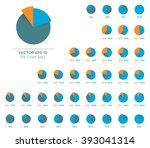 infographic vector 3d pie chart ... | Shutterstock .eps vector #393041314