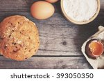 bread with eggs and flour | Shutterstock . vector #393050350