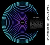 music circle background design | Shutterstock .eps vector #393051958