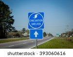Hurricane Shelter Sign.