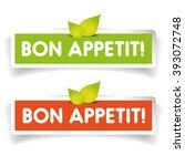 bon appetit  label vector | Shutterstock .eps vector #393072748