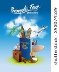 international passport and...   Shutterstock .eps vector #393074539