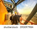 two coal mine engineers with... | Shutterstock . vector #393097984