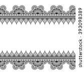 border seamless pattern...   Shutterstock .eps vector #393098389