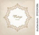elegant luxury vintage... | Shutterstock .eps vector #393104386