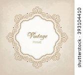 elegant luxury vintage... | Shutterstock .eps vector #393104410
