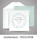 Set Of Wedding Cards. Floral...