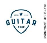 guitar shop logo | Shutterstock .eps vector #393118540