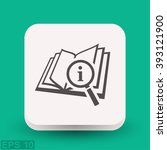 pictograph of book and... | Shutterstock .eps vector #393121900