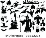 vector collection of halloween... | Shutterstock .eps vector #39312235