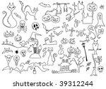 vector collection of halloween...   Shutterstock .eps vector #39312244