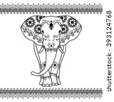 Elephant With Border Elements...