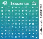 photography icons set | Shutterstock .eps vector #393130900