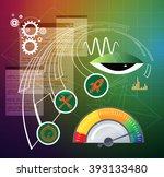 business scheduling process... | Shutterstock .eps vector #393133480