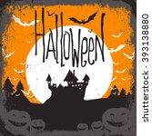 halloween. raster version | Shutterstock . vector #393138880