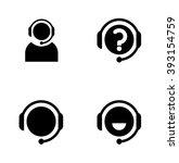 call center helpline operator.... | Shutterstock .eps vector #393154759