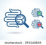 diagnosis of small intestine... | Shutterstock .eps vector #393160834