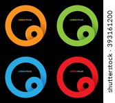 vector abstract circle ribbon... | Shutterstock .eps vector #393161200