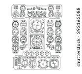 black flight instrument panel... | Shutterstock .eps vector #393162088