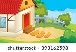 vector cartoon game background... | Shutterstock .eps vector #393162598