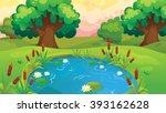 vector cartoon game background... | Shutterstock .eps vector #393162628