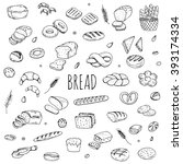 hand drawn doodle set of... | Shutterstock .eps vector #393174334