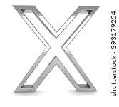 3d silver metal frame letter x...   Shutterstock . vector #393179254