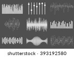 white sound music waves. audio... | Shutterstock .eps vector #393192580
