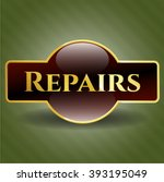 repairs gold shiny emblem   Shutterstock .eps vector #393195049