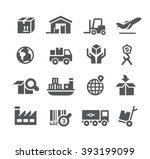 Industry And Logistics Icons    ...