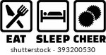 eat sleep cheerleading | Shutterstock .eps vector #393200530