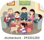 stickman illustration of a... | Shutterstock .eps vector #393201283