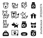 dog icons | Shutterstock .eps vector #393204574