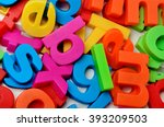 Colorful letters on background...