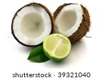 Lime and cocos - stock photo