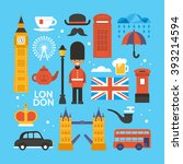 london  great britain flat... | Shutterstock .eps vector #393214594