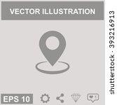 map pointer vector icon. gps... | Shutterstock .eps vector #393216913