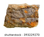 Small photo of Sample of lead ore it is isolated on a white background