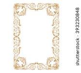premium gold vintage baroque... | Shutterstock .eps vector #393230848
