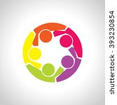 people logo  icon. group of... | Shutterstock .eps vector #393230854