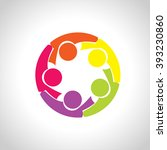 circle people diversity logo  ... | Shutterstock .eps vector #393230860
